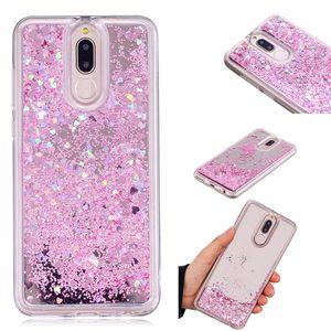 Capa para Huawei Companheiro 10 Lite Caso Quicksand flash Glitter Pó Espelho rígidos móveis casos de telefone Covers