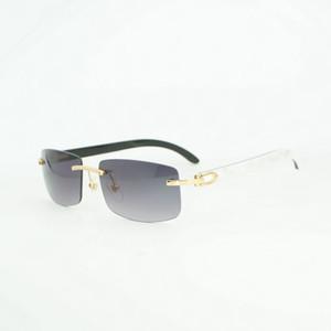 Sem aro de madeira Óculos Homem chifre de búfalo óculos de sol para as mulheres Eyewear para Party Club Óculos Frames Oculos Shades