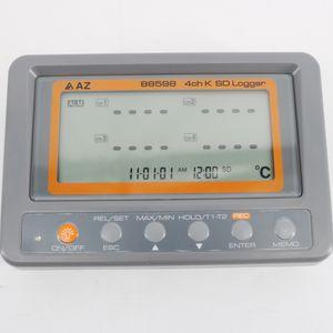 Mehrkanal-Digitalthermometer AZ88598 4-Kanal-Thermoelement-Temperaturlogger Typ K SD-Kartendatenlogger AZ-88598