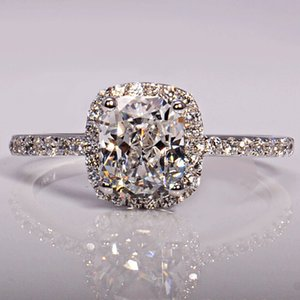 choucong 3ct Stone Diamond 925 Sterling Silver Engagement Wedding Band Ring Sz 5-11 Free shipping Gift
