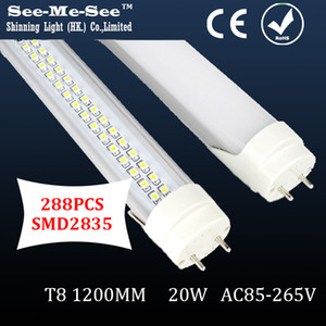 SMTB-14-12,20PCS Lot,two row total 288 led chip pcs AC85-265V 20W 1200MM T8 led tube