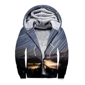 3D Print Hoodie Men Cool Hooded Sweatshirt Winter Fleece Warm Zip up Coat Gothic Jacket Hip Hop Streetwear
