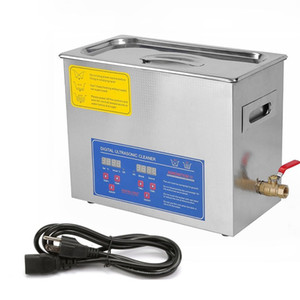 6L Tank Capacity Digital Control 6 Liter Stainless Steel Digital Ultrasonic Cleaner with Bracket and Drainage System