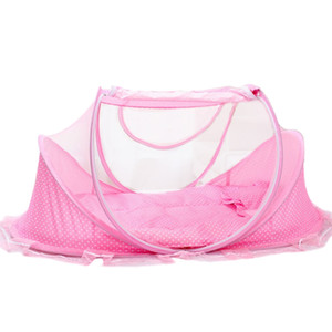 Hohe qualität 3 teile / satz Babybett Setzt Tragbare Klapp Typ Komfortable Infant Pad mit Sealed Moskitonetz Baby