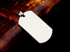 Halskettenanhänger der Edelstahlmänner 100PCS / lot, doppelseitige polierte Edelstahlhundemarke, einfache Art und Weisezusätze