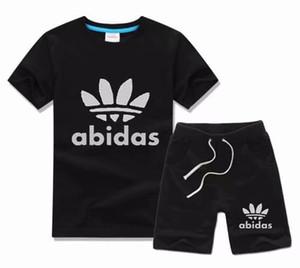 HEIßER New Luxury Logo Designer Baby jungen Mädchen t-shirt Hosen 2- piec 2-6 jahre olde Anzug Kinder Marke kinder 2 stücke Baumwolle Kleidung Sets G