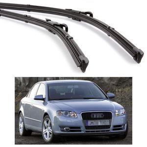 "Novo 2 Pcs 22 ""22"" Car Front Windshield Wiper Blade Bracketless apto para Audi A4 2004-2007 05 06"