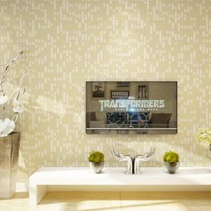 White Beige Mosaic Lattice Carta da parati Moderna Semplice Non tessuto Camera da letto Salotto Divano TV Sfondo Wall Papers Home Decor