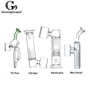 Glaspfeife Shisha Filter für G9 Henail / TC-Port / Mini henail / 510 Nail abnehmbares Glas Befestigung