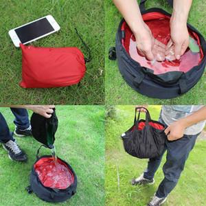 9 Couleurs Portable pliant Lavabo extérieur pliable seau Lavabo eau du bassin Pot pour le camping randonnée Hydratation vitesse AAA400