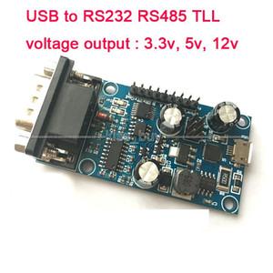 Freeshipping USB RS232 RS485 232 485 TLL Seri port çıkış sinyali 3.3 v, 5 v, 12 v mikroişlemci kurulu CP2102 hata ayıklama