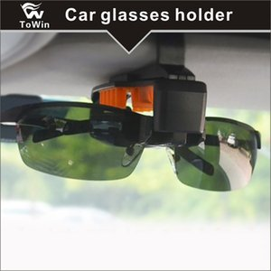Visera para coche, Lenmumu Gafas de sol universales Gafas de sol Titular de la caja Caja de almacenamiento Gafas con porta tarjeta para Sunvisor