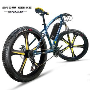 Пользовательские электрический снег ebike 26 дюймов электрический велосипед жира шин 48 В литий-ионный аккумулятор 500 Вт MTB offroad 27 скорость пять говорил колесо ebik