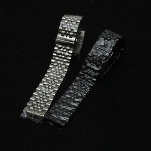 Nuovo arrivo 2017 Solid Link cinturino in acciaio 17 18 19 20 21 22mm Promozione Cinturino cinturino in argento libero estremità curve calde