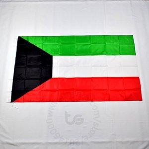 Kuwait decorazione bandiera nazionale Camera appeso il trasporto libero 3x5 FT / 90 * 150cm Hanging Bandiera Nazionale del Kuwait decorazione domestica banner bandiera