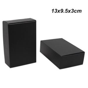 13x9.5x3cm 30 Stücke Schwarz Kraftpapier Box Geschenkverpackungen Boxen für Geburtstagsfeier Schmuck Perle Karton Süßigkeiten Kuchen Cookies Aufbewahrungsboxen