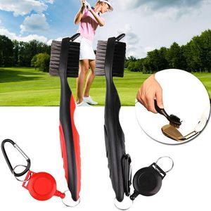 Çift Yan Golf Kulübü Fırça Naylon Tel Kıllar Zip Hattı Topu Fırçalar Mini Taşınabilir Temizleyici Anahtarlık Açık Kolay Taşımak Için 6 5jh ZZ