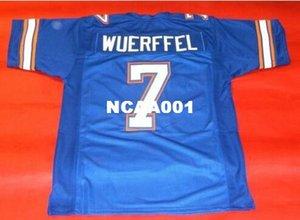 Erkekler Özel # 7 DANNY WUERFFEL ÖZEL FLORIDA GATORS Kolej Jersey boyutu s-4XL veya özel herhangi bir isim veya numara jersey