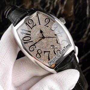 Новые Сумасшедшие Часы Casablanc 8880 Стальной Корпус Алмазный Циферблат Черный Большой Номер Марк Автоматические Мужские Часы Черный Кожаный Ремешок 4 Стили Lxuury F123a1