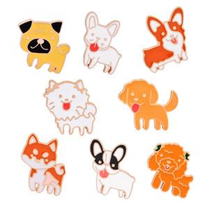 Pins Broches Botão Pins Geometria Denim Jaqueta Pino Emblema Criativo Dos Desenhos Animados planta roupas Jóias Presente Diferente 8 estilos bonitos cães atacado
