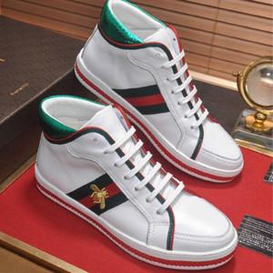 Estilo europeu novo tradicional prática padrão de abelha sapatos de luxo dos homens casuais de alta-top sapatos sapatos de desporto tendência da moda