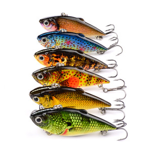 Outdoors 6pcs  Lot  Set New Design Painting Fishing Lures 2 .5 &Quot 8 .64g Vib Pencil Bait 6 Colors Crankbait Fishing Tackle Baits Minnow