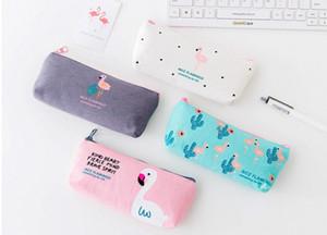 학교 용품 Cavans Pencil Bags 신규 디자인 4 Flamingo Patterns Pencil Cases 고품질 무료 배송