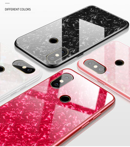 Für Xiaomi Mi 86 6X 5X Fall Luxury Shell Silikonrand + Hartglas Schutzhülle Für Xiaomi Mi8 Full Cover Telefon Shell
