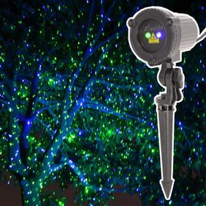 Decoração de natal Elf Luzes Verde Azul Ao Ar Livre Projetor Laser IP65 À Prova D 'Água ao ar livre Natal Do Feriado do laser Projetor de Luz