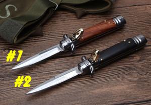 """Горячий ! Карманный нож Билл DeShivs 7,6"""" итальянский Godfather стилет 440C стальное лезвие автоматического выживания на открытом воздухе снаряжение ножи кемпинг нож"""