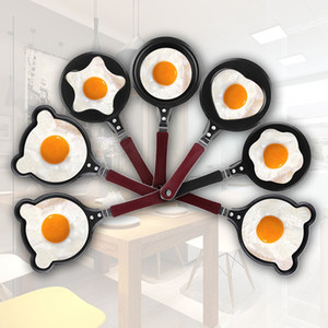 Mini Saucepan Pancake Cute Omelette Desayuno Sartén Huevo Antiadherente Olla Moldes Cocina de dibujos animados Cocina Comedor