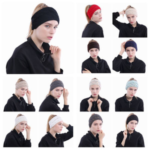 13 Colors Knitted Headbands Women Winter Ears Headbands Knitted Turban Headwrap Crochet Headband Hair Accessories CCA10381 300pcs