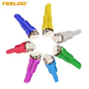 FEELDO 50PCS 7-Color T5 1206 3-SMD 0.1W приборной панели автомобиля Gauge Боковые светодиодные лампы лампы DC 12V # 1455
