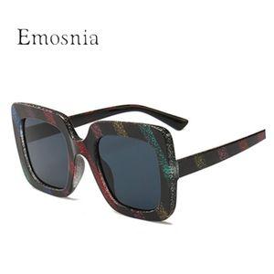 Emosnia Donne divertente banda Occhiali da sole quadrati di nuova marca Colorful Vintage Occhiali da Sole Uomo Donna UV400