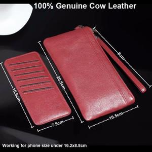 Bolsos de la caja de la bolsa del teléfono móvil de la correa de mano de cuero de vaca genuino para Leagoo T5 / T5S / S8 / S8 Pro, Alcatel, Vernee, Cubot, Bluboo, Umi, Wiko