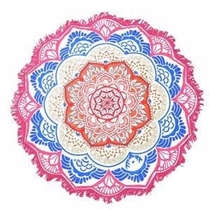 Asciugamano da spiaggia Mandala Grande Loto Tappetino da yoga Tappetino da yoga rotondo Tassel Tapestry Totem Coperta Hippy Boho Tovaglia 150cm / 59 ''