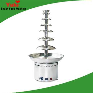 Große 7 Stufen Handelsschokoladen-Brunnen-Maschinen-elektrischer Schokoladen-Wasserfall-Maschinen-Haushalts-Partei-Gebrauch-Edelstahl
