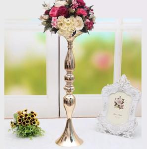 """3 colores! Envío gratis 50 cm / 20 """"sostenedor de vela de metal palo de vela centro de la boda evento carretera plomo flor puestos de florero estante"""