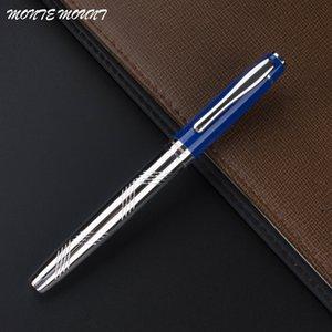 MONTE MOUNT 301 Azul e prata presente de escritório Roller ball Pen