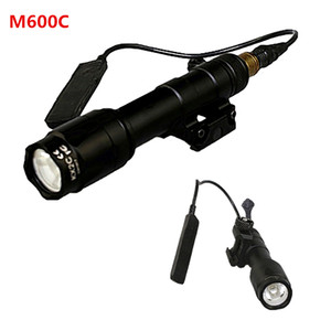 M600C Tactical Scout Light Rifle Filmlight LED Faretto da caccia costante e uscita momentanea con interruttore di coda