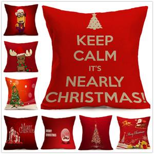 1 قطع الساخن زينة للمنازل الرنة الجوت وسادة غطاء حالة مرح عيد الميلاد الكتان ساحة أفضل هدية عيد