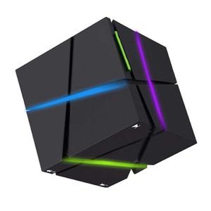 Новый Qone мини-куб колонки 3D стерео звук Портативный Bluetooth динамик беспроводной Music Box поддержка TF карта с розничной коробке хороший 2018