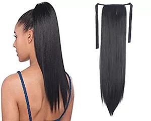 100% Natural Remy humana brasileña del pelo de cola de caballo Cola de caballo clips en / sobre la extensión del pelo humano 100g Cabello liso