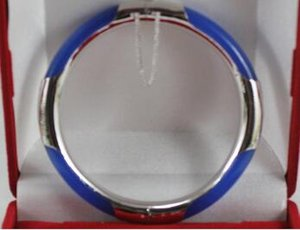 Free Shipping generious 57MM 7.5 inches blue Natural Stone bracelet for lady