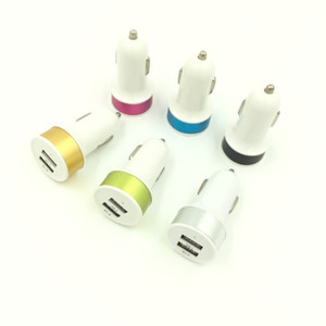 Colorido Mini Car Truck Dual 2 Porta USB carregador adaptador para iPod 12V 2.1A carregador de carro USB para o telefone móvel iPhone X XR XS Max Samsung