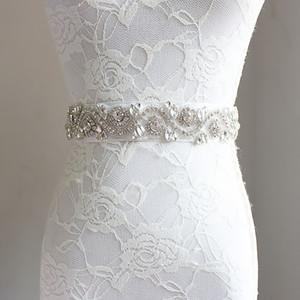 Nicely Glitter Girls strass ceinture boutique enfants perlés strass enfants ruban Bows crystal princesse ceinture mariée accessoires de mariage