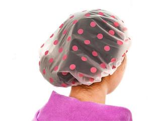 Водонепроницаемый шапочка для душа кухня ванна шляпа волос крышка - точка полупрозрачный купальный колпачок для женщин Бесплатная доставка