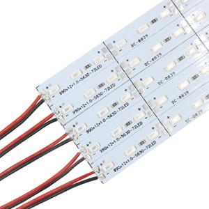 Edison2011 5630 LED Bar Luz Não-Impermeável 5730 SMD 72 LEDs / M LED Tira Rígida DC12V LEDs Tubo Duro Lâmpada LED Strip