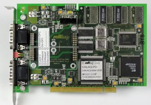 Placa de equipamento industrial SOTING GMBH CAN-AC2-PCI / HW / LP V.10 4DH6111 CAN-AC2-I / HW V1.01