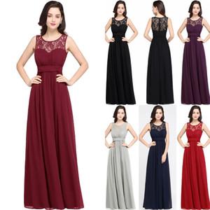 웨딩 롱 시폰 A 라인 공식 드레스에 대한 싼 국가 신부 들러리 드레스 겸손한 웨딩 게스트 파티 가운 CPS614